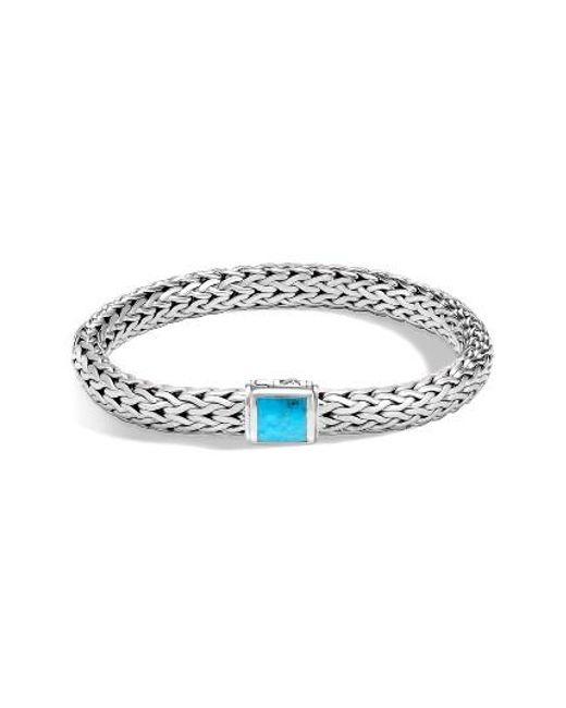 John Hardy | Metallic Classic Medium Chain Silver & Turquoise Bracelet | Lyst