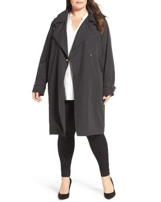 French Connection | Black Trench Coat | Lyst