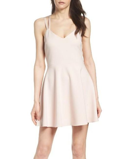 French Connection Whisper Light Fit Amp Flare Dress In Pink
