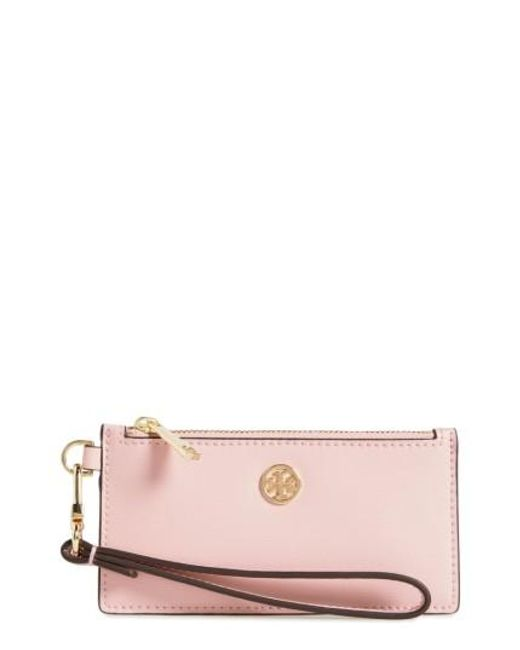 Tory Burch | Red Parker Leather Card Case | Lyst
