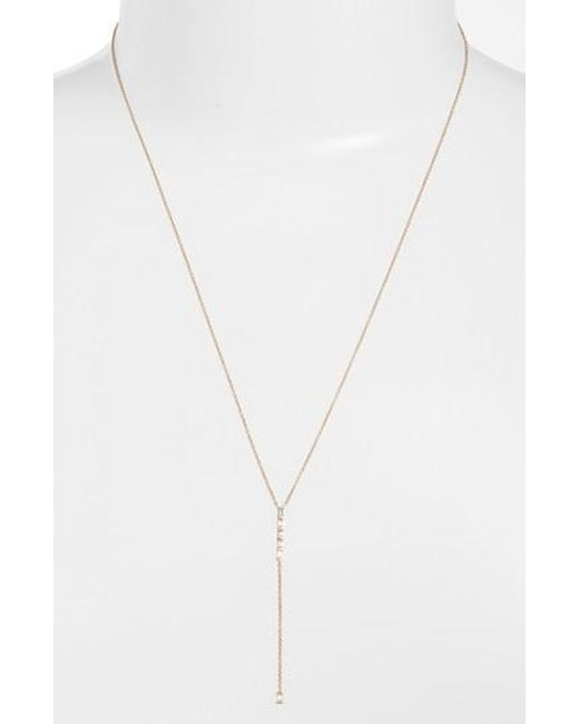 Dana Rebecca - Metallic Sadie Diamond Y-necklace - Lyst