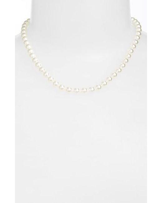 Nadri | White 16-inch Glass Pearl Strand Necklace | Lyst