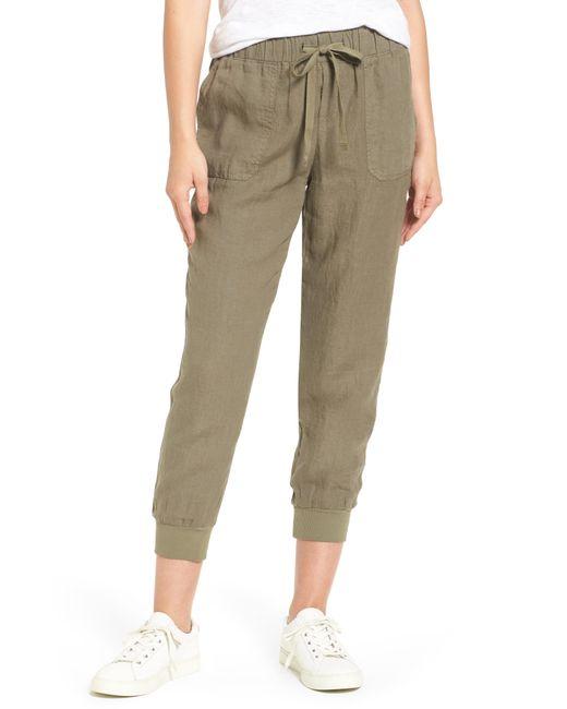 Caslon - Green Caslon Linen Jogger Pants - Lyst