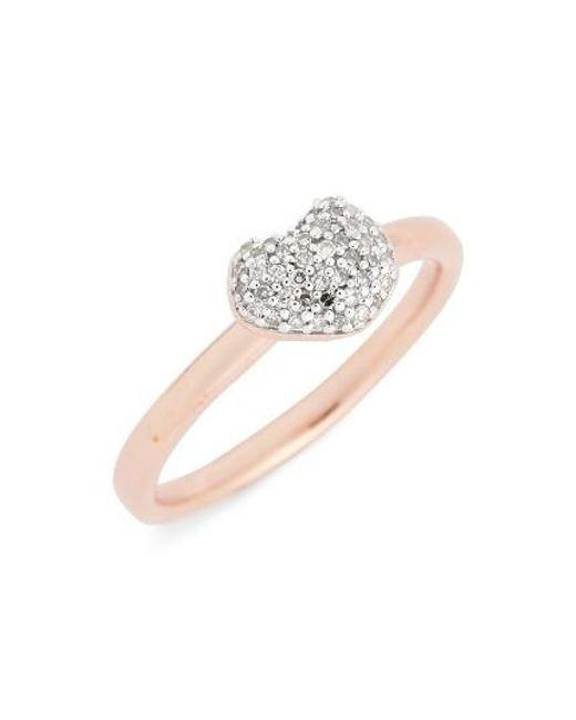 Monica Vinader   Metallic Nura Pave Diamond Ring   Lyst