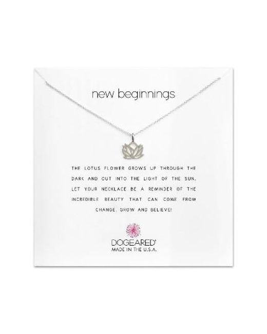 Dogeared | Metallic Lotus Reminder Pendant Necklace | Lyst