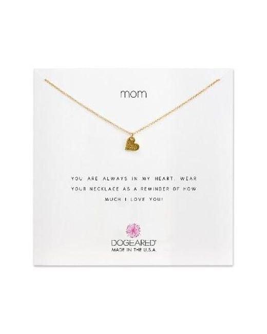 Dogeared | Metallic Mom Pendant Necklace | Lyst