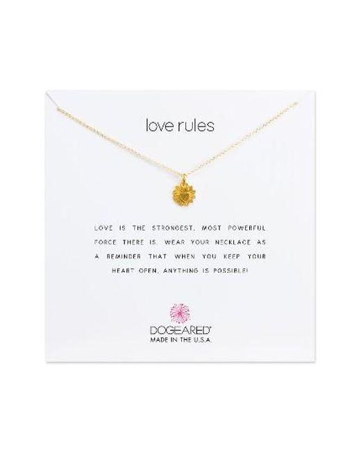 Dogeared   Metallic Love Rules Pendant Necklace   Lyst