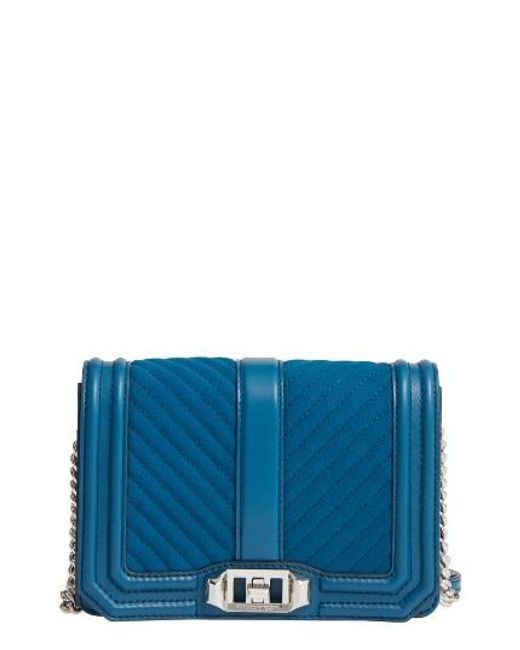 Rebecca Minkoff | Multicolor Small Love Chevron Quilted Leather Crossbody Bag | Lyst