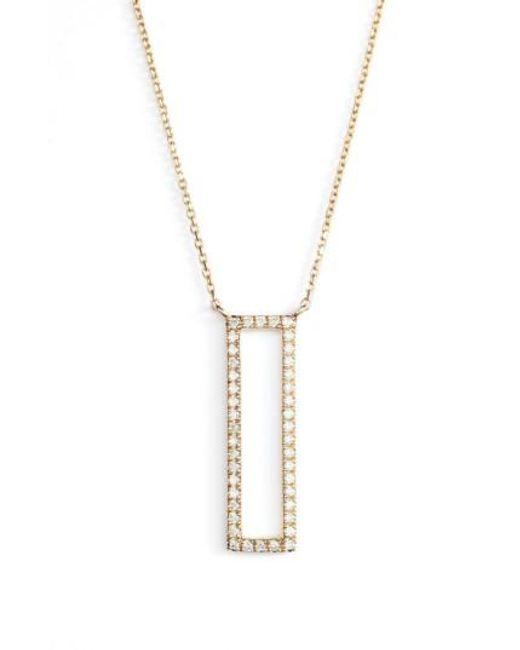 Dana Rebecca | Metallic Diamond Pendant Necklace | Lyst