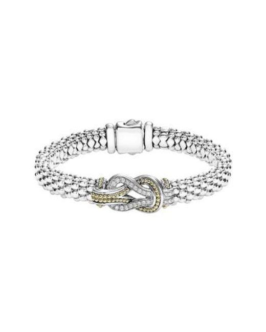 Lagos | Metallic Caviar Newport Diamond Station Bracelet | Lyst