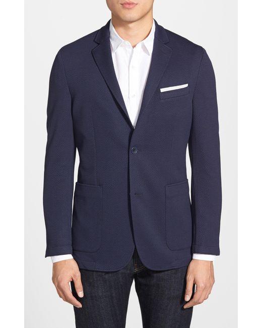 Vince Camuto - Blue Slim Fit Stretch Knit Sport Coat for Men - Lyst