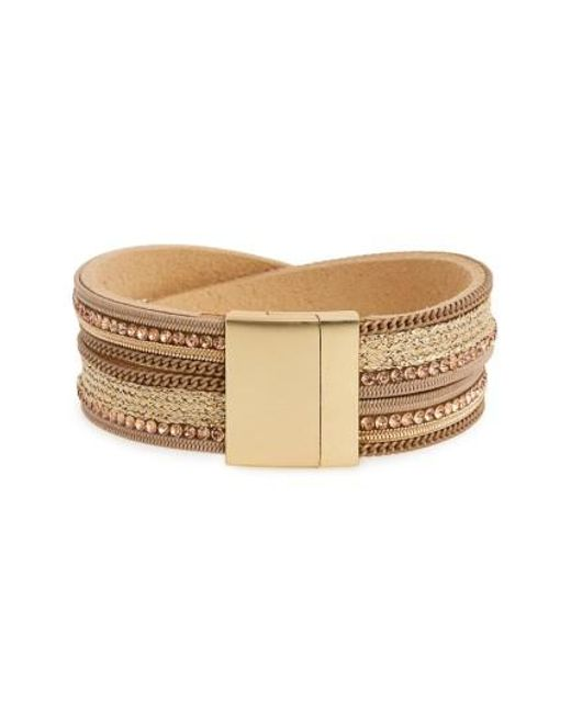 Panacea - Brown Crisscross Bracelet - Lyst