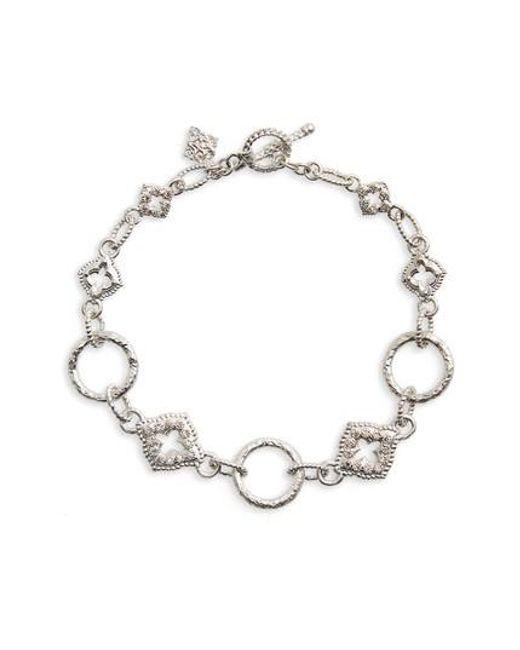 Armenta | Metallic New World Diamond Circle Link Bracelet | Lyst