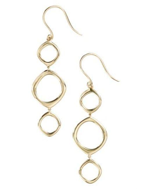 Bony Levy   Metallic Geo Circle Linear Drop Earrings (nordstrom Exclusive)   Lyst