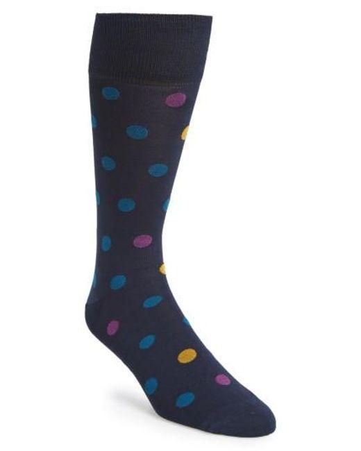 Calibrate | Blue Dot Socks for Men | Lyst