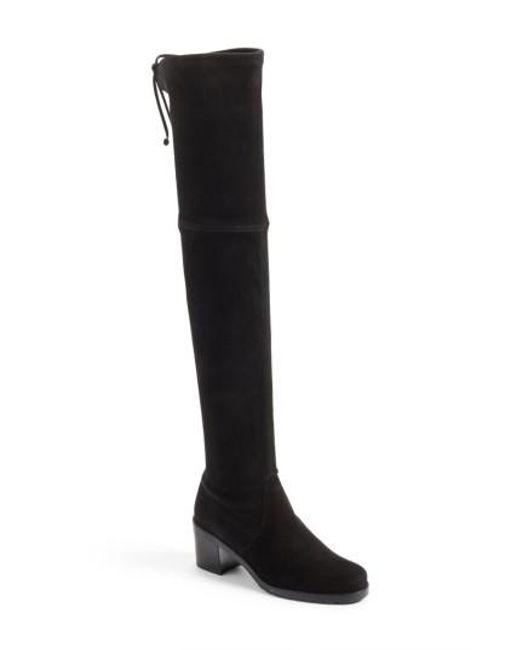 Stuart Weitzman | Black Elevated Over The Knee Boot | Lyst