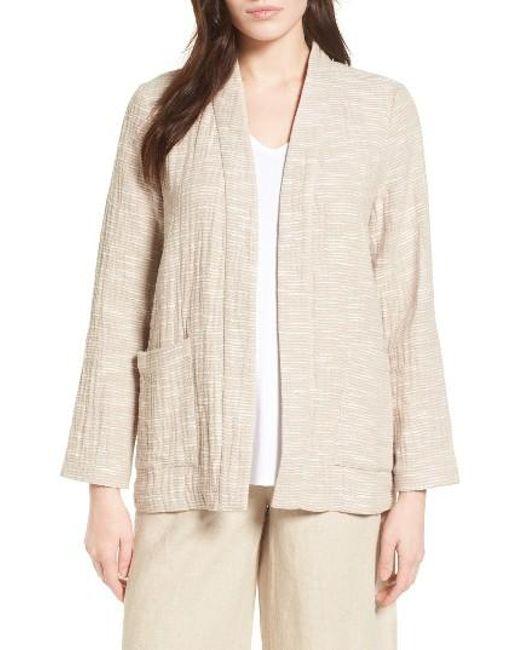 Eileen Fisher | Natural Cotton Jacket | Lyst