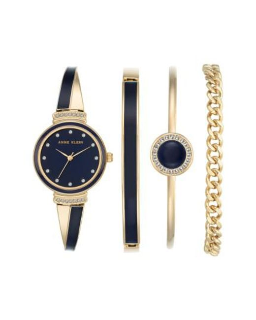 Anne Klein | Blue Bangle Watch & Bracelet Set | Lyst