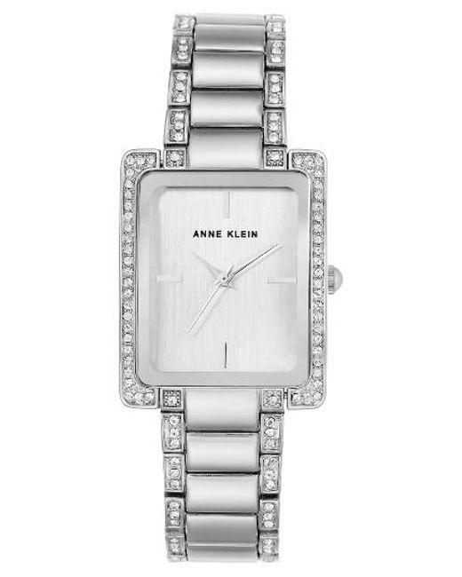 Anne Klein | Metallic Crystal Bracelet Watch | Lyst