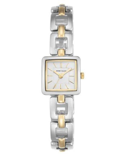 Anne Klein | Metallic Square Bracelet Watch | Lyst