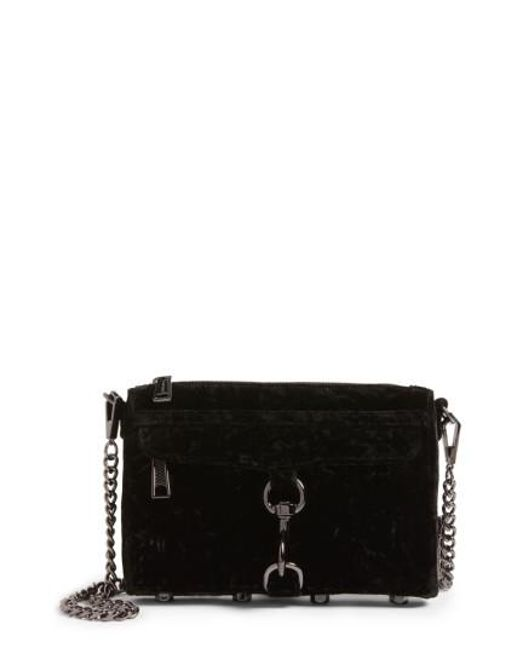Rebecca Minkoff | Black Mac Velvet Convertible Cross-body Bag | Lyst