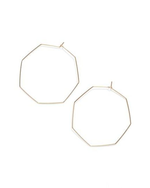 Nashelle | Metallic Octagon Hoop Earrings | Lyst