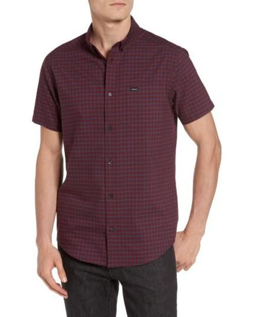 RVCA | Purple That'll Do Tattersall Woven Shirt for Men | Lyst