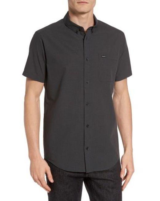 RVCA | Black That'll Do Microcheck Woven Shirt for Men | Lyst