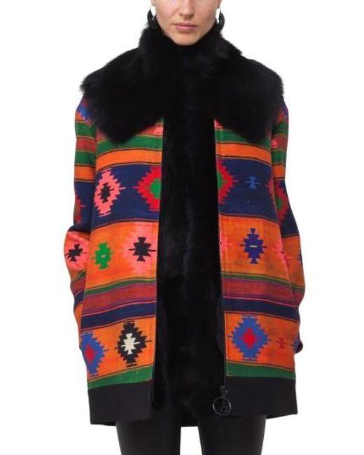 Akris Punto | Black Genuine Lamb Fur Scarf | Lyst
