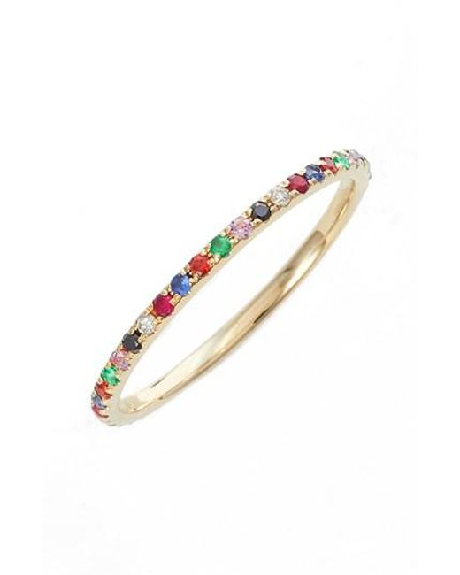 EF Collection | Metallic Rainbow Precious Gem Stack Ring | Lyst