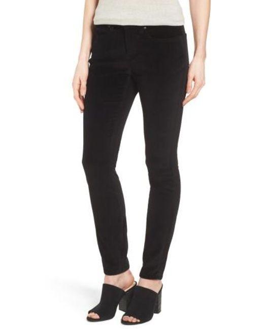 Eileen Fisher | Black Velvet Skinny Jeans | Lyst