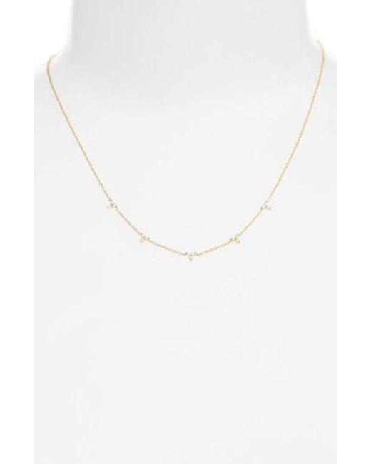 EF Collection | Metallic Diamond Necklace | Lyst