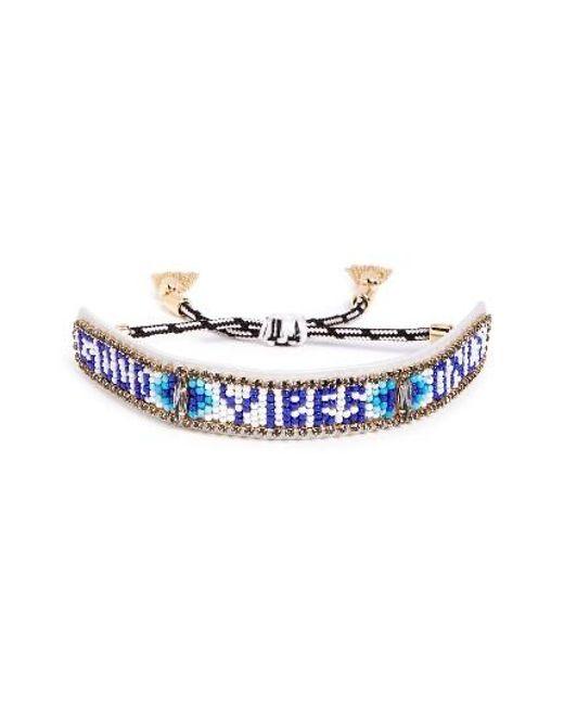 Rebecca Minkoff | Blue Good Vibes Only Bead Bracelet | Lyst