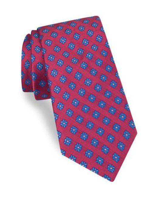 Ted Baker   Red Medallion Silk Tie for Men   Lyst
