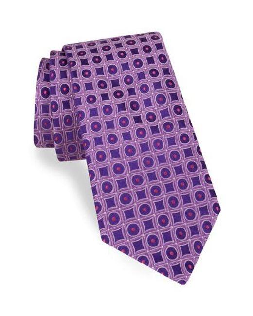 Ted Baker   Purple Geometric Silk Tie for Men   Lyst