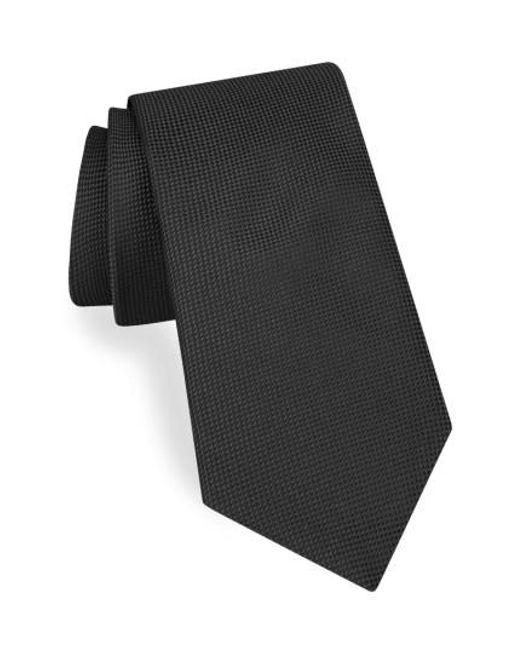 Ted Baker   Black Solid Silk Tie for Men   Lyst