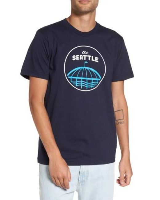 Casual Industrees   Blue Old Seattle Graphic T-shirt for Men   Lyst