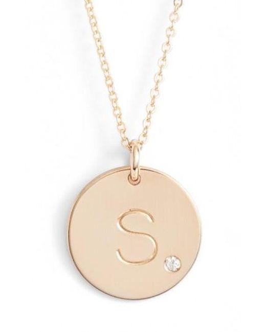 Nashelle | Metallic Diamond Initial Pendant Necklace | Lyst