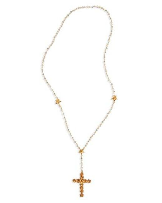 Virgins, Saints & Angels | Metallic Coronation Crystal Rosary Necklace | Lyst