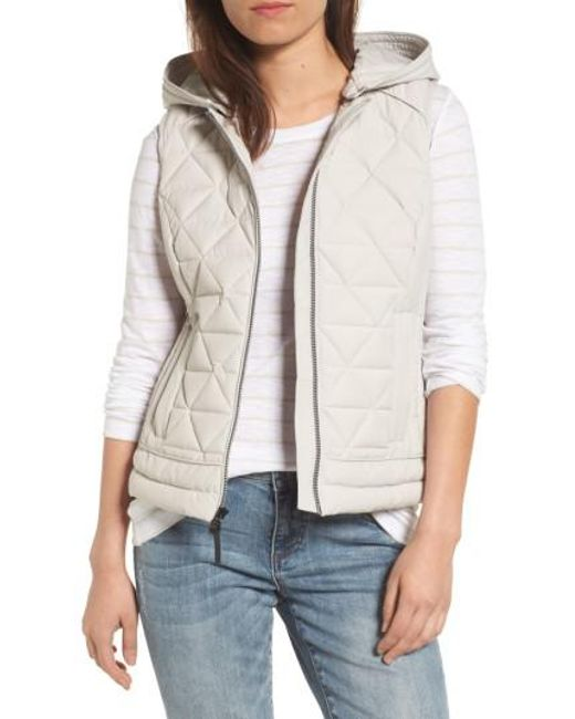 Marc New York | Natural Sage Hooded Quilted Vest | Lyst