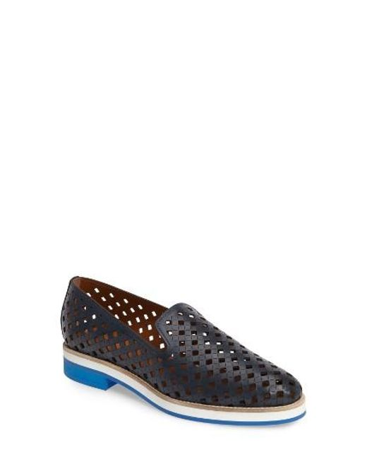 Aquatalia | Blue Zanna Perforated Loafer | Lyst ...