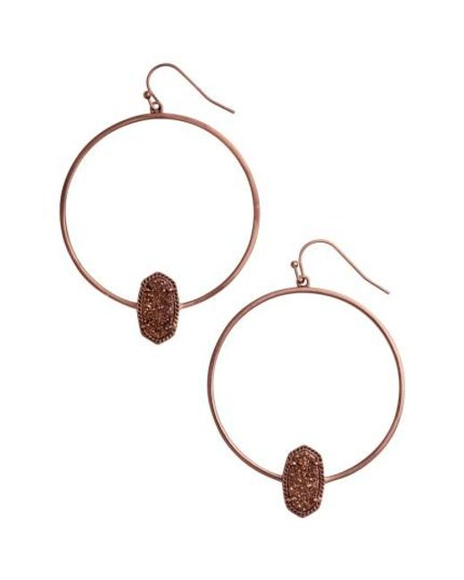 Kendra Scott | Multicolor Elora Frontal Hoop Earrings | Lyst