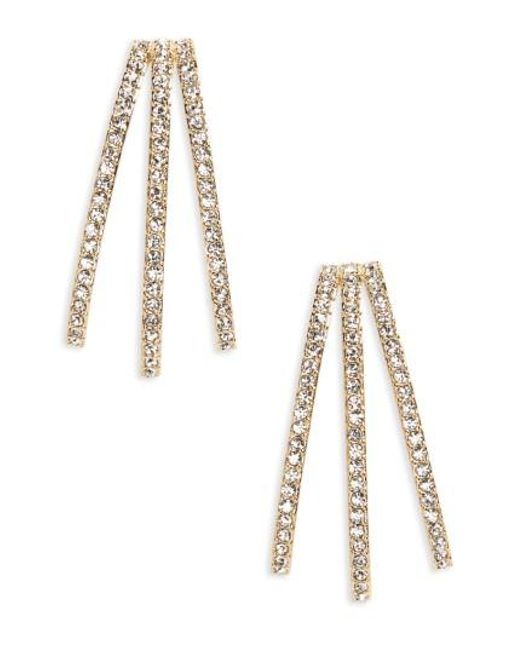 Nadri | Metallic Three-row Crystal Ear Cuffs | Lyst