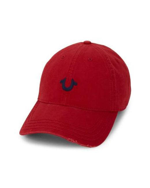 True Religion | Red Baseball Cap for Men | Lyst