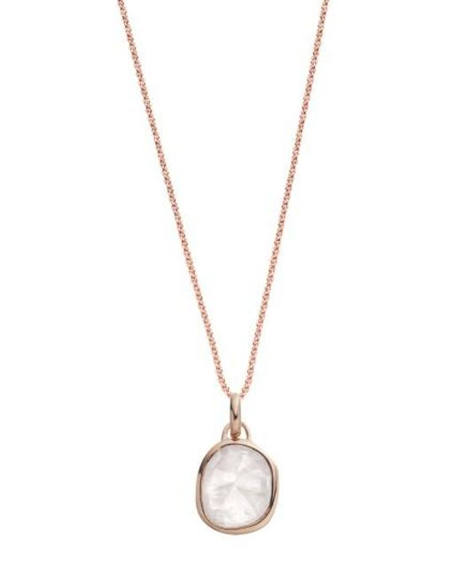 Monica Vinader | Metallic Siren Semiprecious Stone Pendant Necklace | Lyst