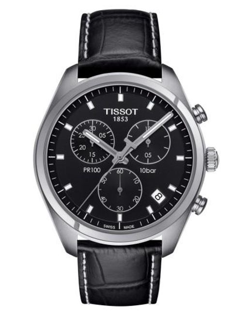 Tissot | Multicolor Pr100 Chronograph Leather Strap Watch for Men | Lyst