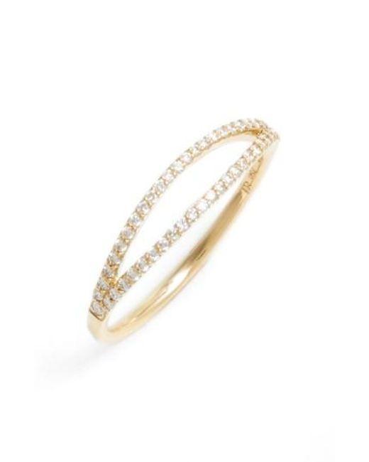 Bony Levy | Metallic Kiera Two-row Diamond Stack Ring (nordstrom Exclusive) | Lyst