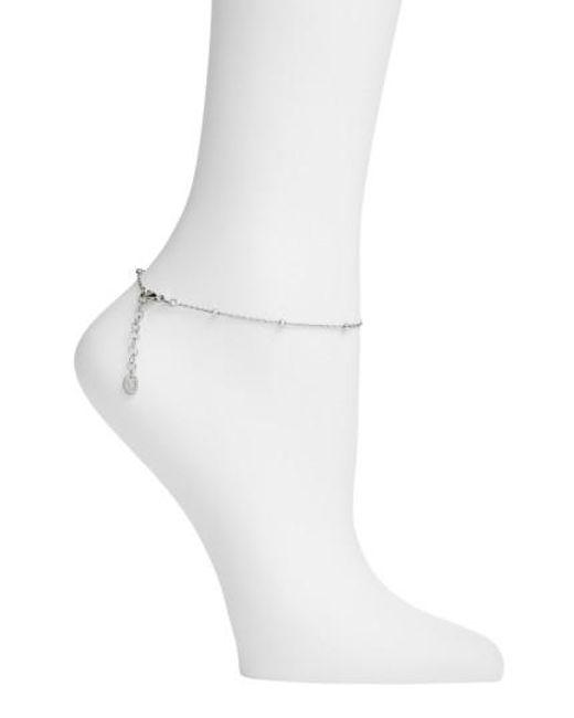 Argento Vivo | Metallic Bead Station Anklet | Lyst