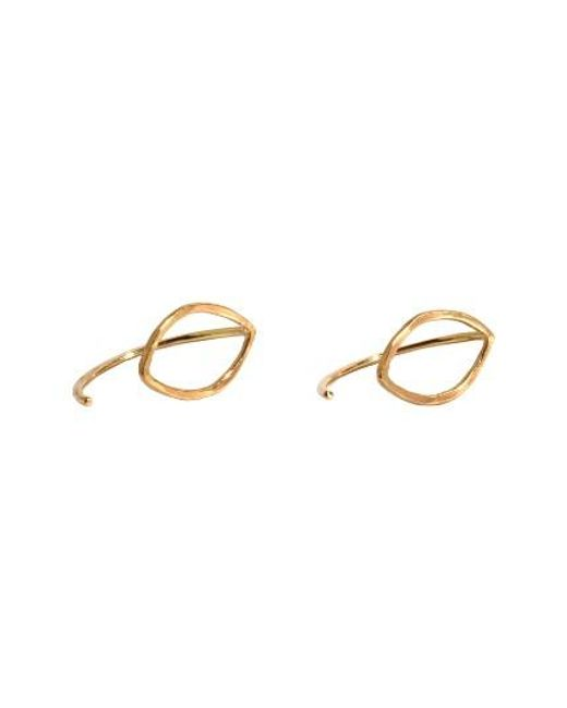 Melissa Joy Manning | Metallic Small Oval Threader Stud Earrings | Lyst