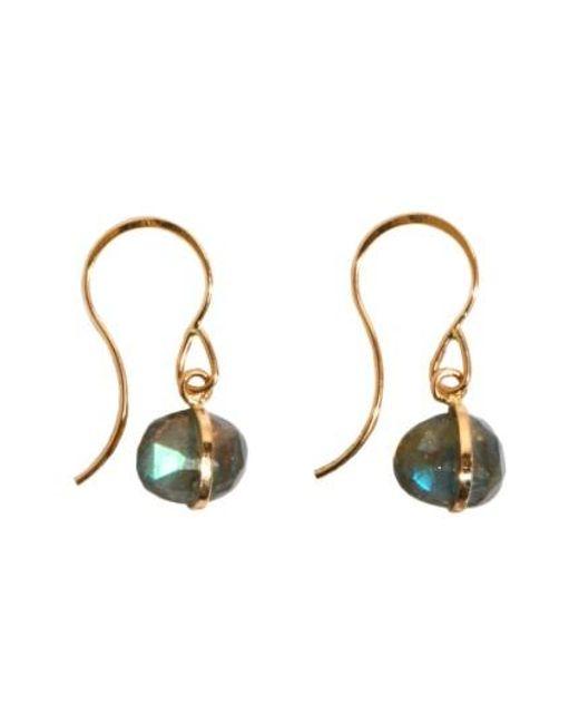 Melissa Joy Manning   Metallic Labradorite Drop Earrings   Lyst